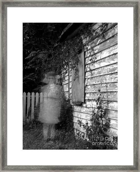 Little Girl Ghost Framed Print by Melissa Wyatt