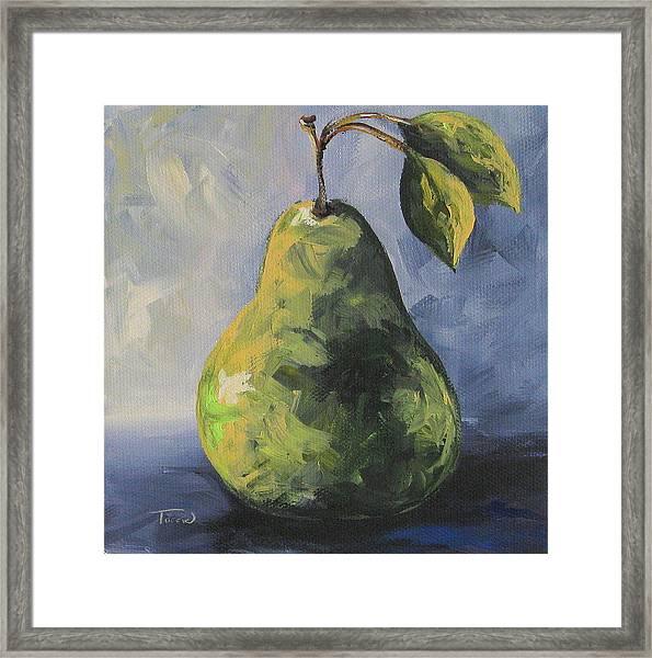 Little Green Pear Framed Print