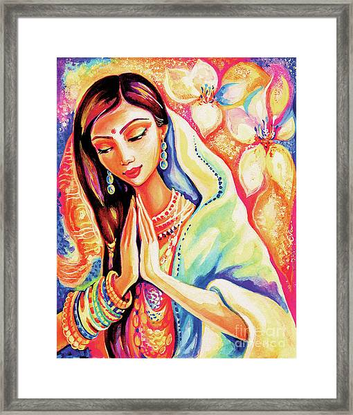 Little Himalayan Pray Framed Print