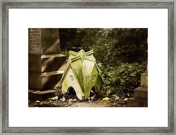 Little House In The Woods Framed Print