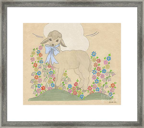 Little Lamb Lightened Framed Print