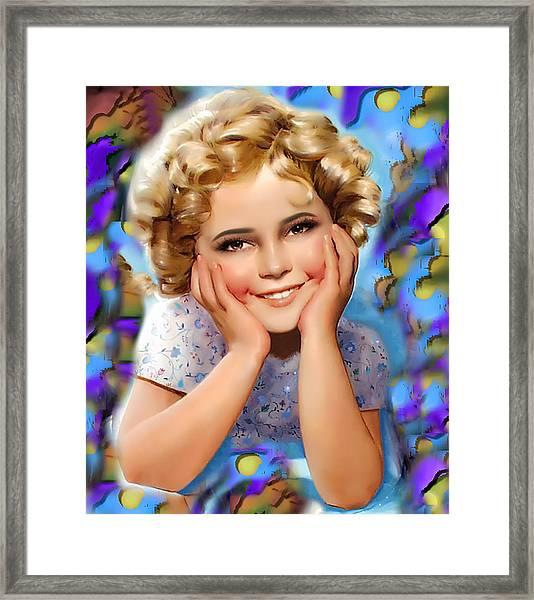 Little Miss Shirley Framed Print