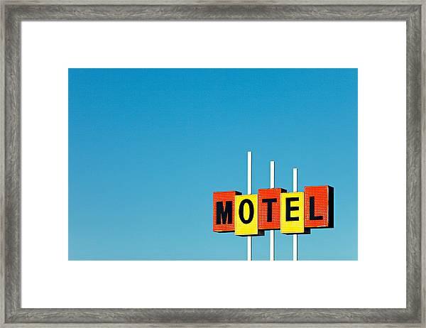 Little Motel Sign Framed Print
