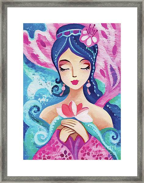 Little Quan Yin Mermaid Framed Print