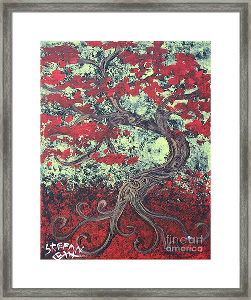 Little Red Tree Series 3 Framed Print