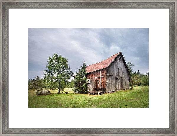 Little Rustic Barn, Adirondacks Framed Print