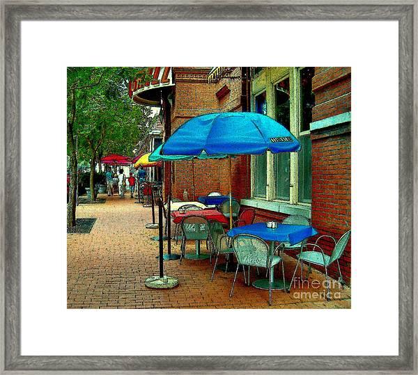 Little Street Cafe Framed Print
