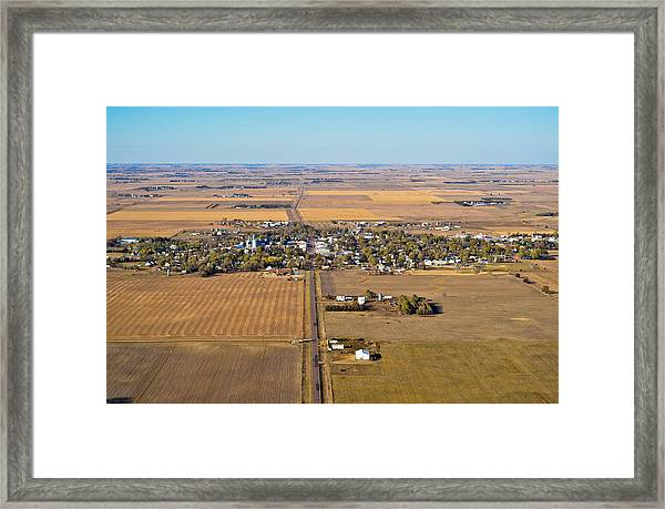 Little Town On The Prairie Framed Print