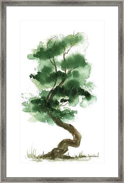 Little Zen Tree 151 Framed Print