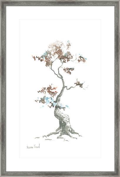 Little Zen Tree 444 Framed Print