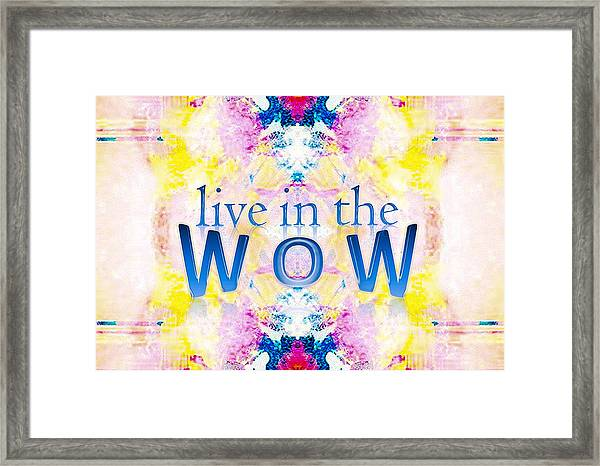 Live In The Wow Framed Print