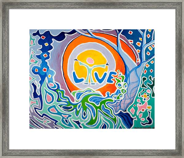 Live Love Framed Print