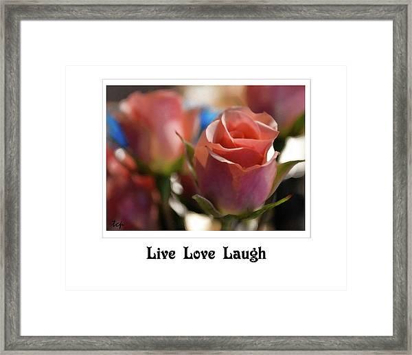Live Love Laugh Framed Print