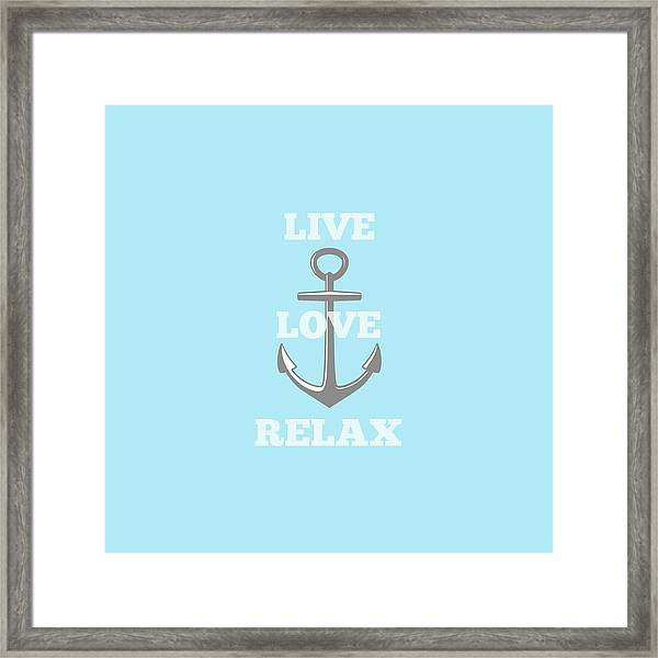 Live Love Relax - Customizable Color Framed Print