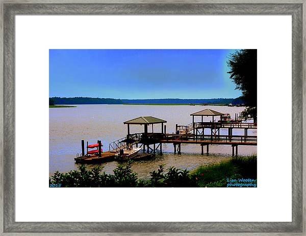 Living In The Lowcountry Framed Print