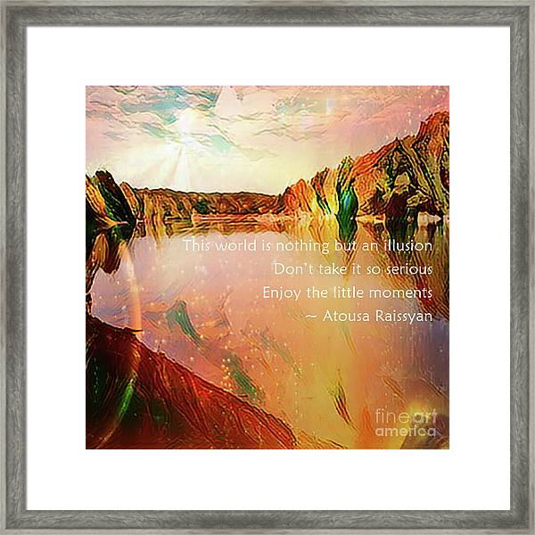Framed Print featuring the photograph World Of Illusion by Atousa Raissyan