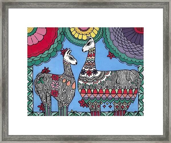 Llama Mama Framed Print