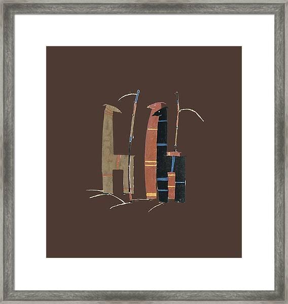 Llamas T Shirt Design Framed Print
