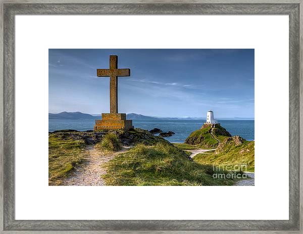Llanddwyn Cross Framed Print