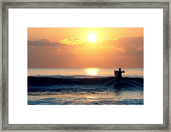 Llangennith Last Wave Framed Print