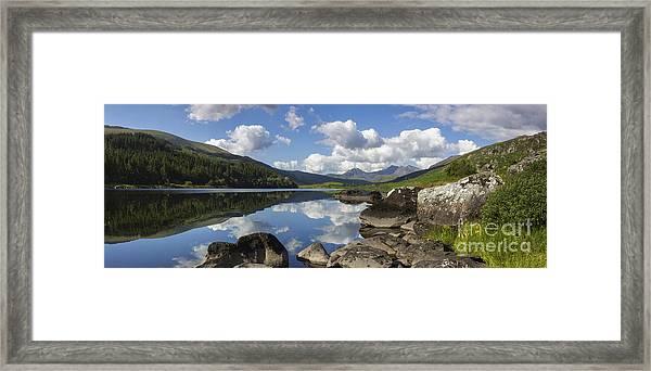 Llyn Mymbyr And Snowdon Panorama Framed Print