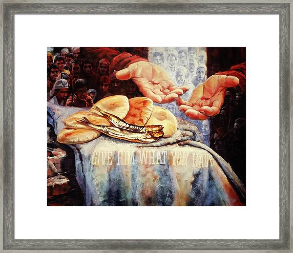 Loaves And Fishes 2 Framed Print