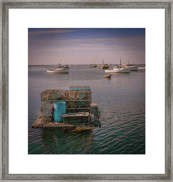 Framed Print featuring the photograph Lobstar Pot Float by Samuel M Purvis III