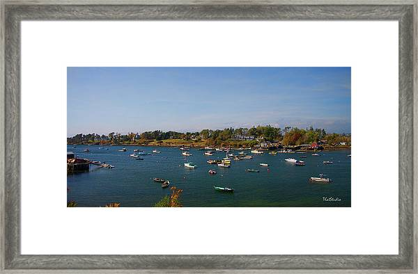 Lobster Boats On The Coast Of Maine Framed Print
