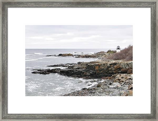 Lobster Point Lighthouse - Ogunquit Maine Framed Print