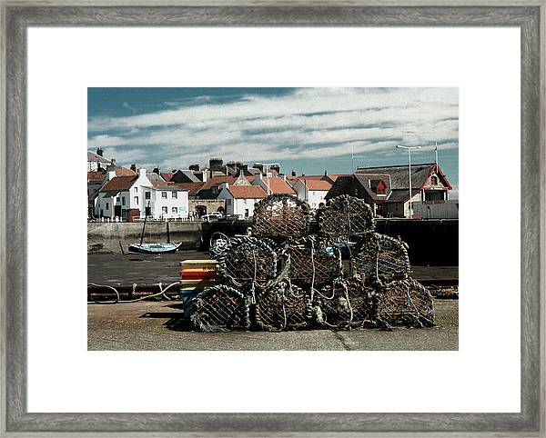 Lobster Pots Framed Print