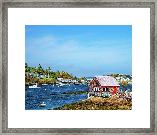 Lobstermen's Shack Framed Print