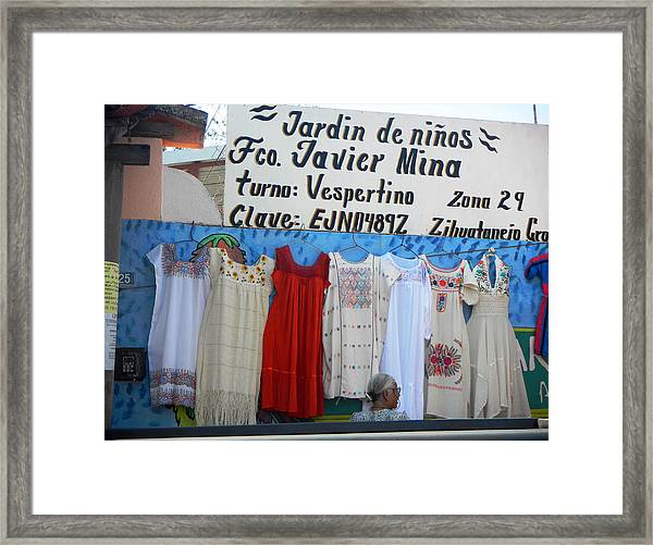 Local Fare Framed Print