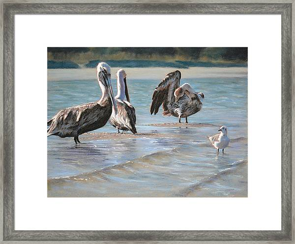 Locals At The Bar Framed Print