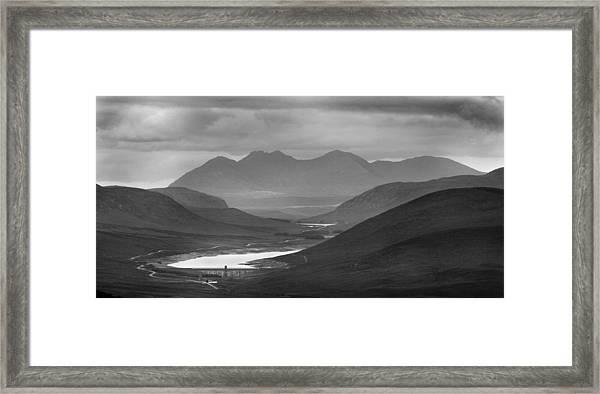 Loch Glascarnoch And An Teallach Framed Print