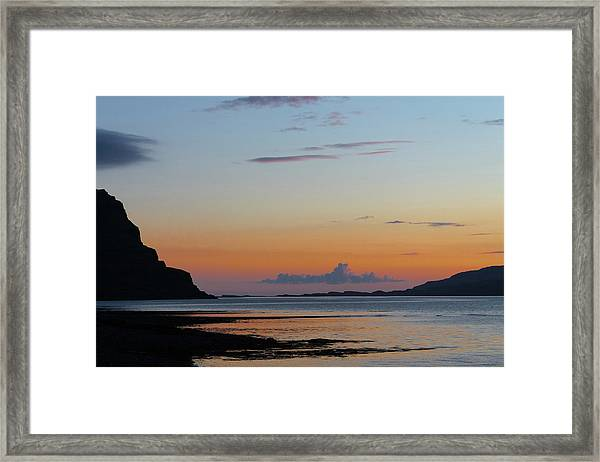 Loch Na Keal Sunset Framed Print