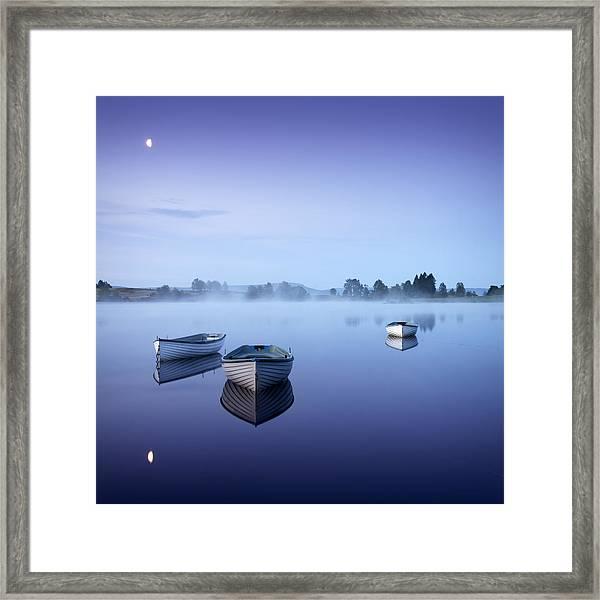 Loch Rusky Moonlit Morning Framed Print