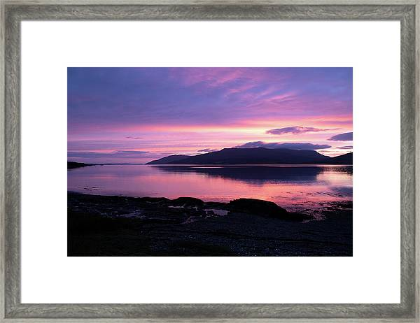 Loch Scridain Sunset Framed Print
