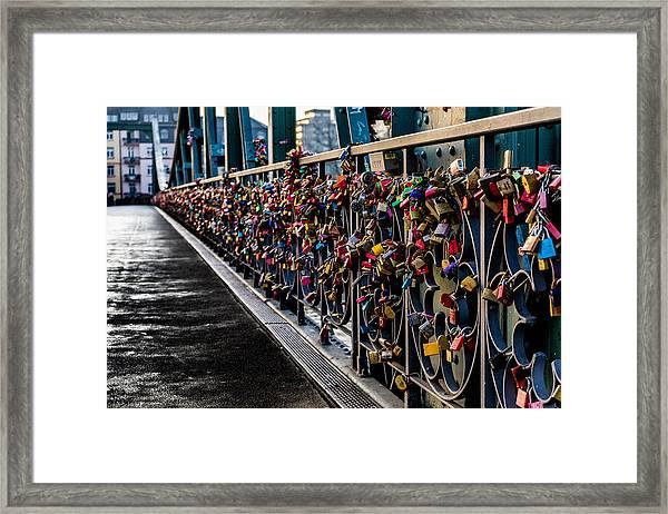 Locks Of Lock Bridge Framed Print