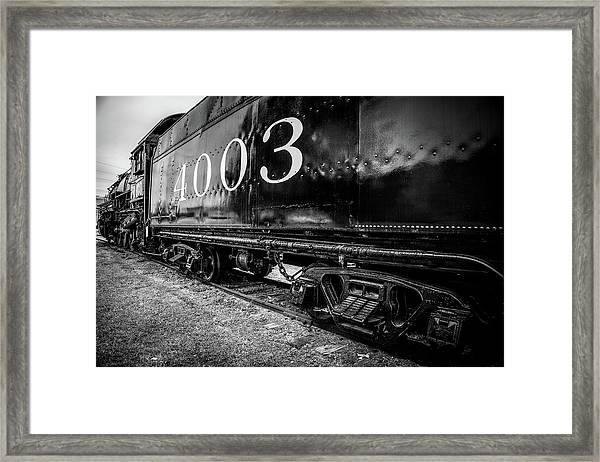 Locomotive Engine Framed Print