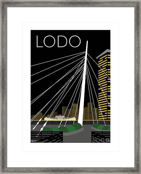 Lodo By Night Framed Print