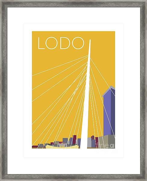 Lodo/gold Framed Print