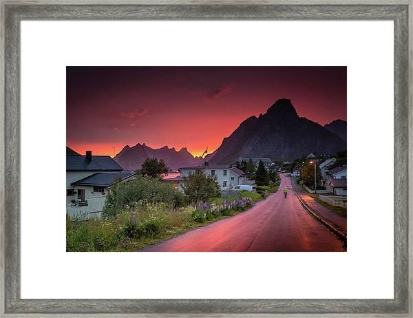 Lofoten Nightlife  Framed Print