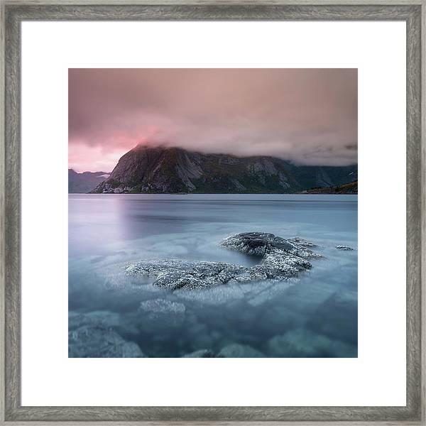 Lofoten Sunset Framed Print