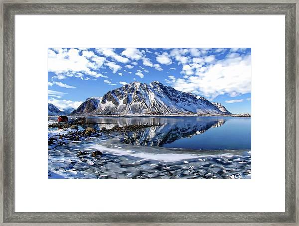 Lofoten Winter Scene Framed Print