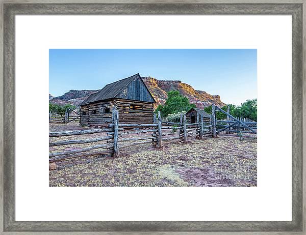 Log Barns Grafton Ghost Town Framed Print