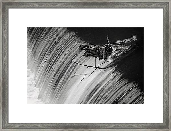 Log In The Falls Framed Print