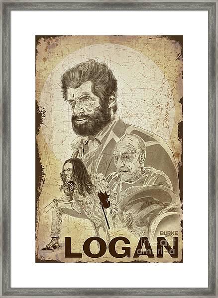 Logan Framed Print by Joseph Burke