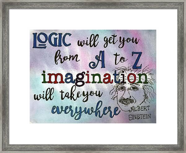 Logic Framed Print