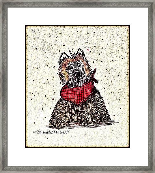 Lola The Dog Framed Print