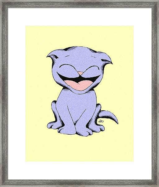 Lolly Cat Laughing Framed Print